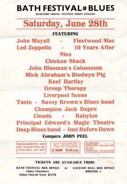Taste au Bath Festival, 28 juin 1969 Bath-69-poster-plain